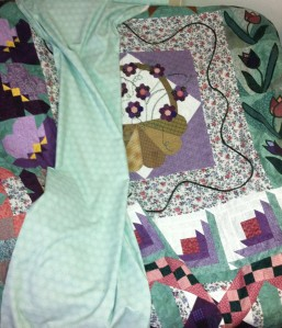 Choosing backing and border fabric for Sister1 Medallion quilt