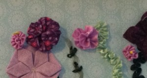15 ribbon flowers