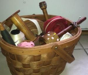 basket of spools