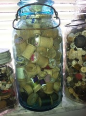 jar of spools