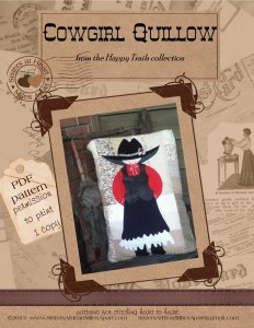 Happy Trails PDF Cowgirl Quillow pattern instructions