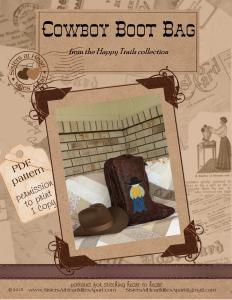 Happy Trails PDF Cowboy Boot Bag cover