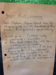 cajun quilt language